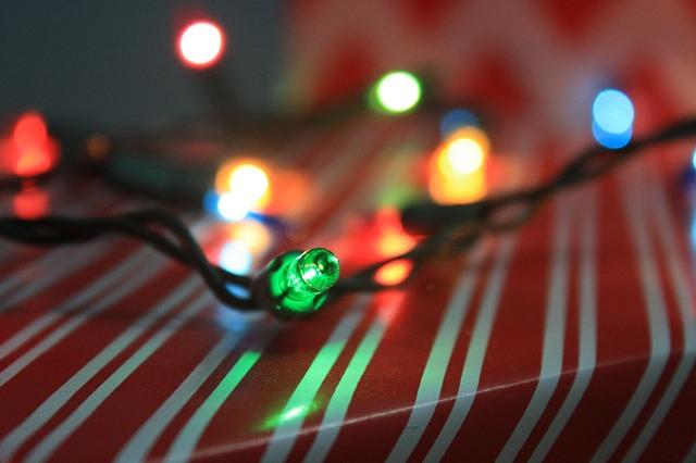vánoční světýlka s diodami